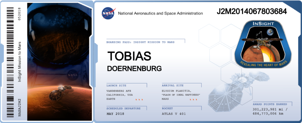 NASA InSight Ticket