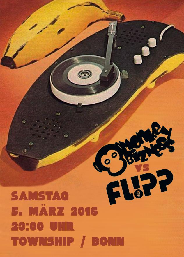 MoNkEyBiZNeSs feat. Flipp Flyer Vorderseite
