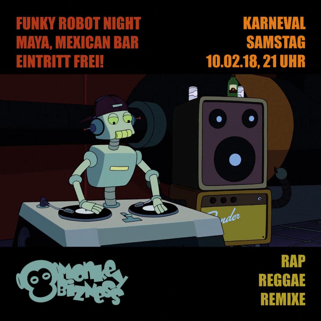 MoNkEyBiZNeS präsentiert: Funky Robot Night! im MAYA